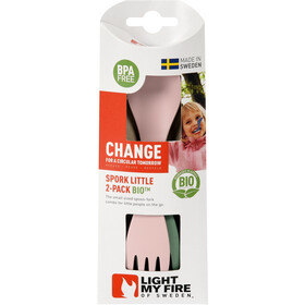 Light My Fire Spork Little BIO 2 packs, sandygreen/dustypink